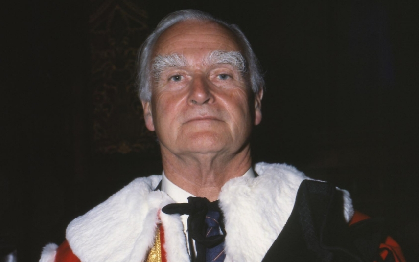 BARON GRIFFITHS OF GOVILON QC In the County of Gwent (Rt Hon Sir William Hugh Griffiths) Life Peer A Lord of Appeal in Ordinary In robes for his Introduction in the House of Lords COMPULSORY CREDIT: UPPA/Photoshot Photo CGL 195485 06.06.1985